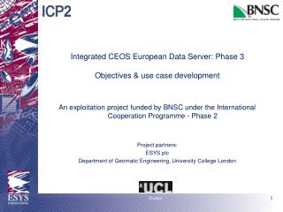 Integrated CEOS European Data Server: Phase 3 Objectives & use case development