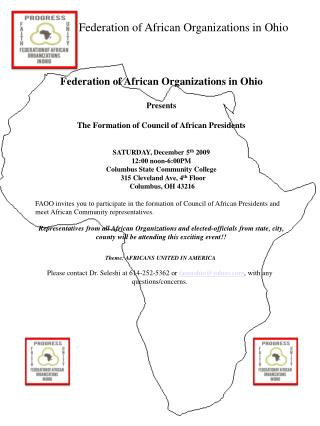 Federation of African Organizations in Ohio  Presents