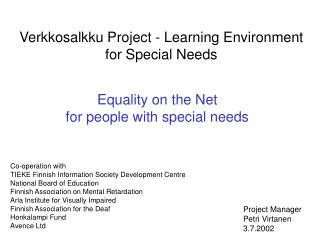 Equality on the Net for people with special needs