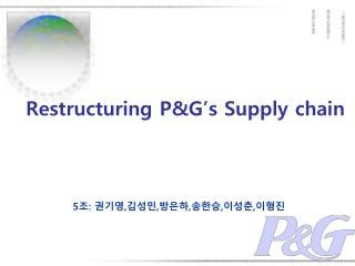 Restructuring P&G's Supply chain