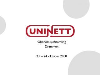 Økonomisjefssamling Drammen 23. – 24. oktober 2008