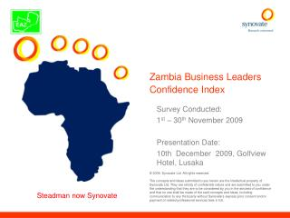 Zambia Business Leaders Confidence Index