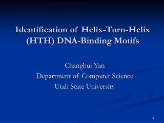 Identification of Helix-Turn-Helix (HTH) DNA-Binding Motifs