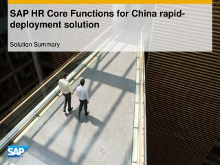 SAP HR Core Functions for China rapid-deployment solution