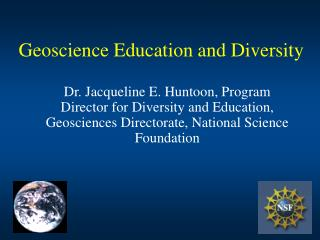 Geoscience Education and Diversity