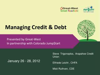 Managing Credit & Debt