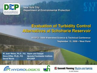 Evaluation of Turbidity Control Alternatives at Schoharie Reservoir