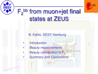 F 2 bb from muon+jet final states at Z EUS