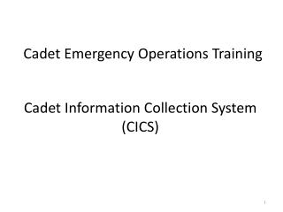 Cadet Emergency Operations Training
