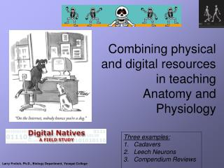 Combining physical and digital resources in teaching  Anatomy and Physiology