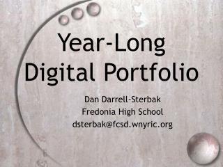 Year-Long Digital Portfolio