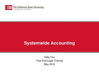 Systemwide Accounting