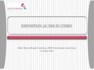 EXPOSITION AU DES IN UTERO