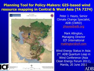 Planning Tool for Policy-Makers: GIS-based wind resource mapping in Central & West Asia (TA 7274)