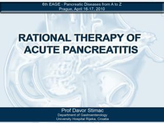 INCIDENCE OF ACUTE PANCREATITIS