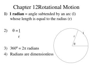 Chapter 12Rotational Motion