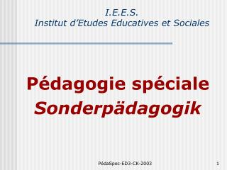 I.E.E.S. Institut d'Etudes Educatives et Sociales