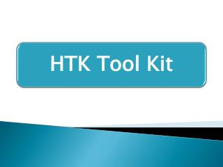 What is HTK tool kit