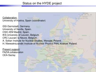 Status on the HYDE project