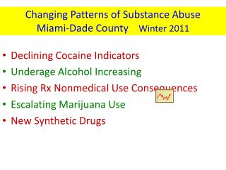 Changing Patterns of Substance Abuse  Miami-Dade County     Winter 2011