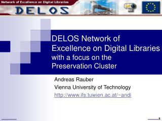DELOS Network of Excellence on Digital Libraries with a focus on the  Preservation Cluster