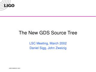 The New GDS Source Tree