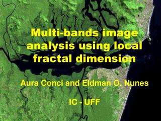 Multi-bands image analysis using local fractal dimension Aura Conci and Eldman O. Nunes IC - UFF