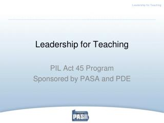 Leadership for Teaching