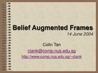 Belief Augmented Frames 14 June 2004