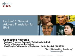Lecture15: Network  Address Translation for IPv4