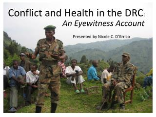 Conflict and Health in the DRC :
