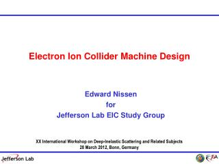 Electron Ion Collider Machine Design