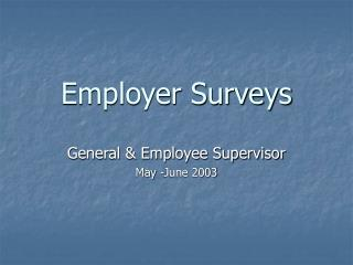 Employer Surveys