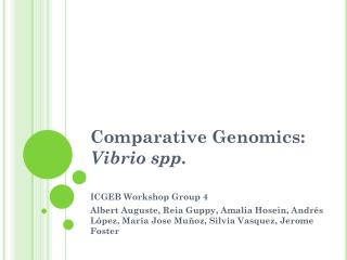Comparative Genomics:  Vibrio spp.