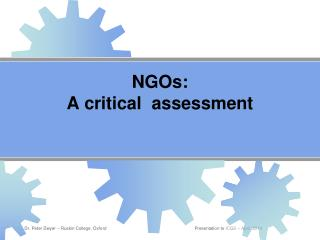 NGOs:  A critical  assessment