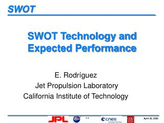 SWOT Technology and Expected Performance