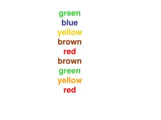 green blue yellow brown red brown green yellow red