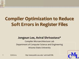 Compiler Optimization to Reduce Soft Errors in Register Files