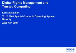 Digital Rights Management and Trusted Computing