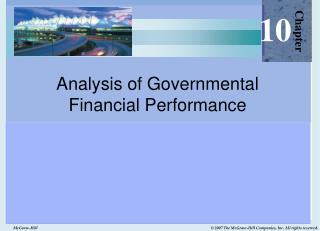 Analysis of Governmental  Financial Performance