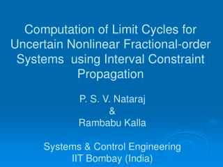 Computation of Limit Cycles for