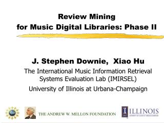 Review Mining  for Music Digital Libraries: Phase II