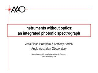 Instruments without optics:  an integrated photonic spectrograph