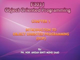 F3031  Object Oriented Programming