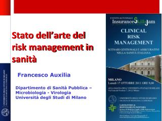 Stato dell'arte del  risk  management in sanità