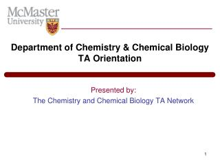 Department of Chemistry & Chemical Biology TA Orientation