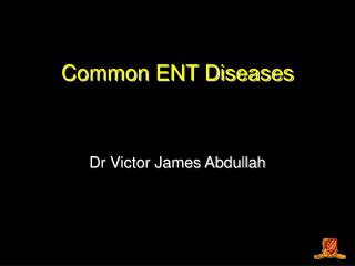 Common ENT Diseases