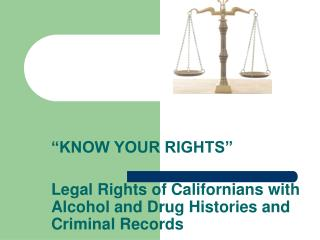"""KNOW YOUR RIGHTS"""