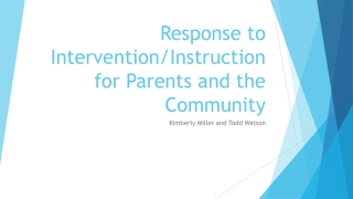 Response to Intervention RtI: 3 Tiered System