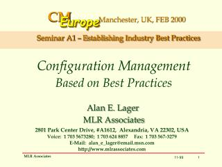 Configuration Management Based on Best Practices